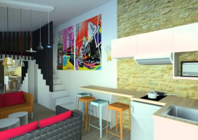 Home-staging virtuel maison vacances Nuances 3D Design